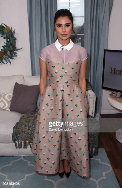 Actress Diane Guerrero visits Hallmark's Home Family at Universal Studios Hollywood on January 9 2018 in Universal City California