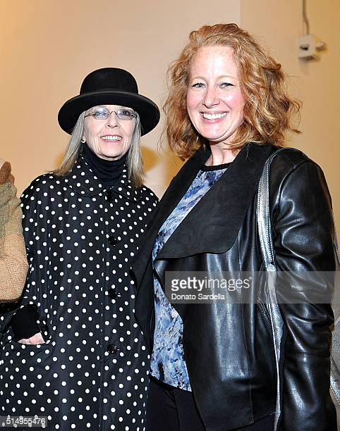 Actress Diane Keaton and Colleen Criste attend MOCA's Leadership Circle and Members' Opening for 'Don't Look Back The 1990s At MOCA' at The Geffen...