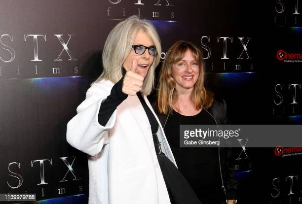 "Actress Diane Keaton and director Zara Hayes attend ""The State of the Industry: Past, Present and Future"" STXfilms presentation at The Colosseum at..."