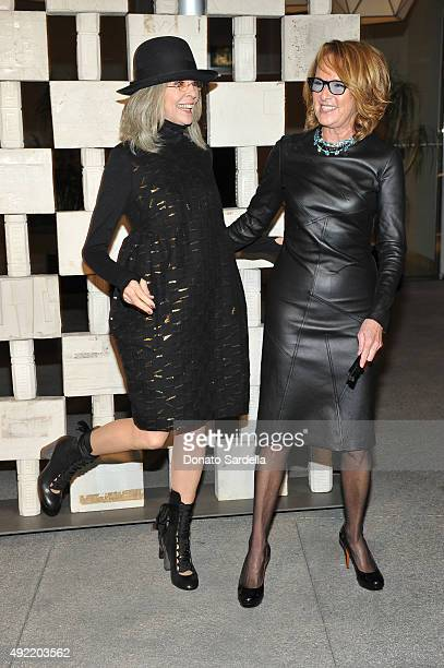 Actress Diane Keaton and Hammer Museum Director Annie Philbin attend the Hammer Museum Gala in Garden sponsored by Bottega Veneta at Hammer Museum on...