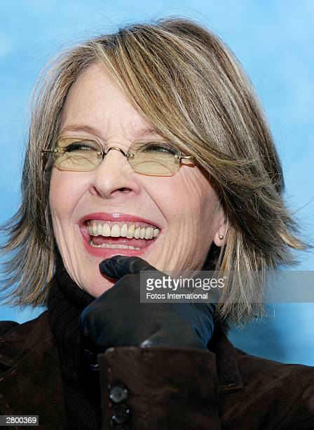 OUT*** Actress Diane Keaton answers questions from the press at a junket for her new film Something's Got to Give at the Waldorf Astoria Hotel...