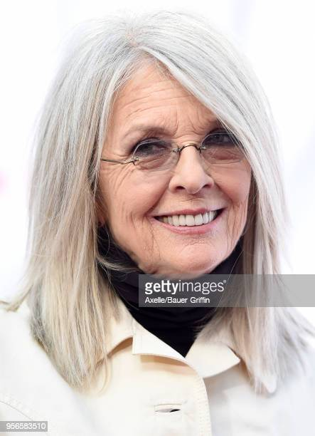 Actress Diane Keaton arrives at the premiere of Paramount Pictures' 'Book Club' at Regency Village Theatre on May 6 2018 in Westwood California