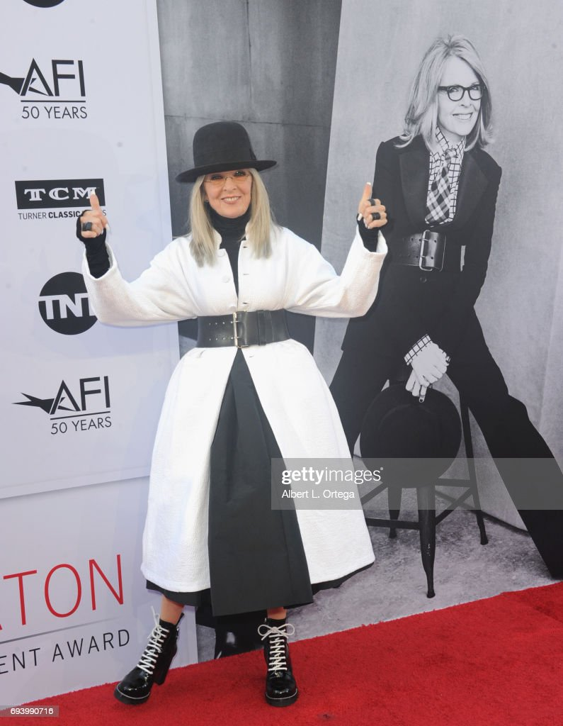 Actress Diane Keaton arrives for the AFI Life Achievement Award Gala Tribute To Diane Keaton held on June 8, 2017 in Hollywood, California.