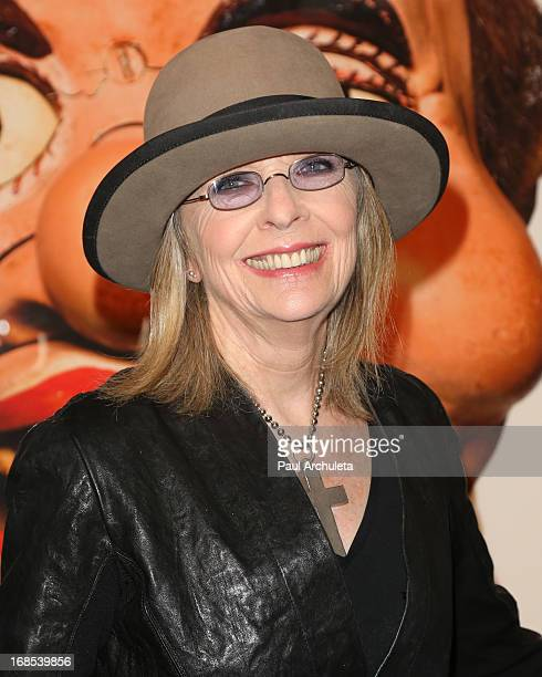 Actress Diane Keaton attends a celebration for Matthew Rolston's new book Talking Heads The Vent Haven Portraits on May 10 2013 in Los Angeles...