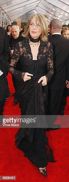 Actress Diane Keaton attends the 10th Annual Screen Actors Guild Awards at the Shrine Auditorium on February 22 2004 in Los Angeles California