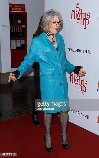 Actress Diane Keaton attends the '5 Flights Up' New York premiere at BAM Rose Cinemas on April 30 2015 in the Brooklyn borough of New York City