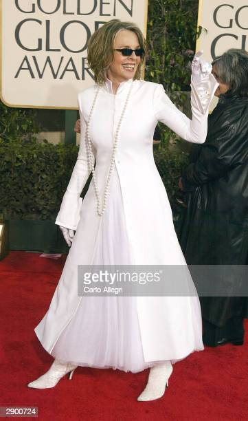 Actress Diane Keaton attends the 61st Annual Golden Globe Awards at the Beverly Hilton Hotel on January 25, 2004 in Beverly Hills, California.