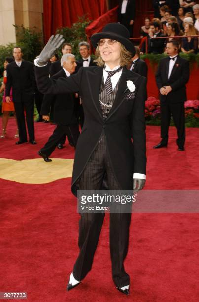 Actress Diane Keaton attends the 76th Annual Academy Awards on February 29, 2004 at the Kodak Theater, in Hollywood, California.