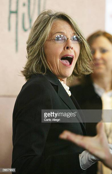 Actress Diane Keaton attends the 9th Annual Critics' Choice Awards on January 10 2004 at the Beverly Hills Hotel in Beverly Hills California