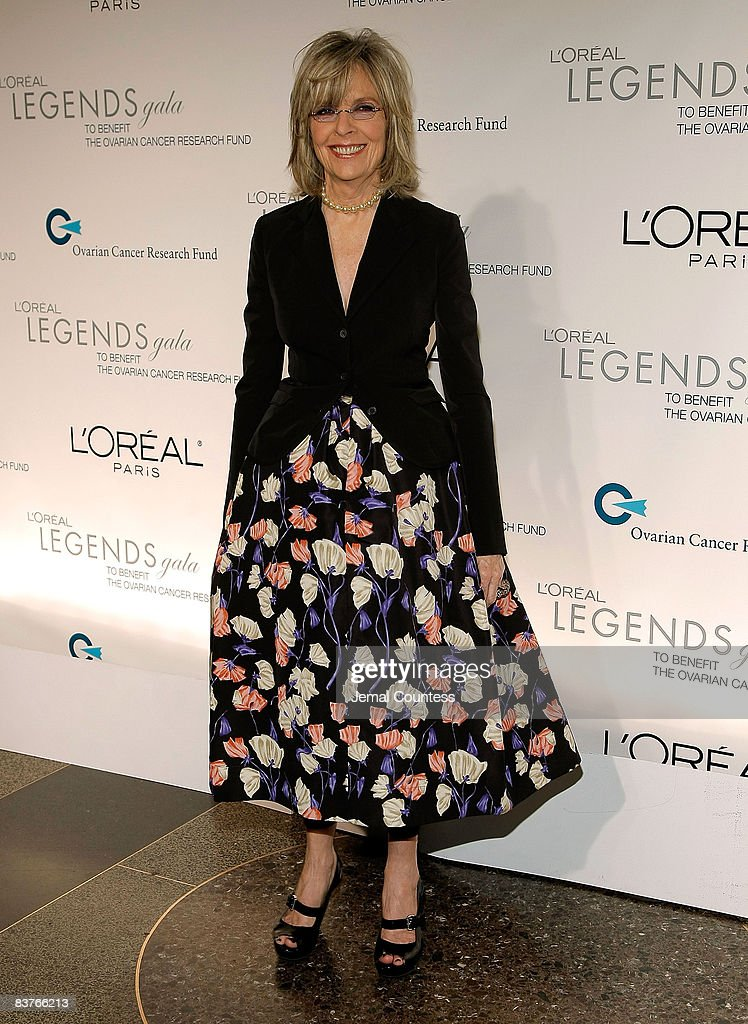 Actress Diane Keaton attends the L'Oreal Legends Gala to Benefit The Ovarian Cancer Research Fund at American Museum of Natural History on November 10, 2008 in New York City.