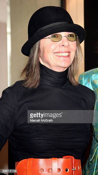 Actress Diane Keaton attends the party for the launch of the publication 'Looking at Los Angeles' a book actor Ben Stiller helped edit at the gallery...