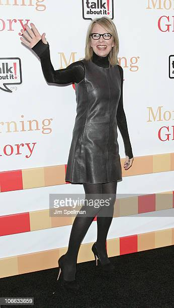 Actress Diane Keaton attends the premiere of Morning Glory at the Ziegfeld Theatre on November 7 2010 in New York City