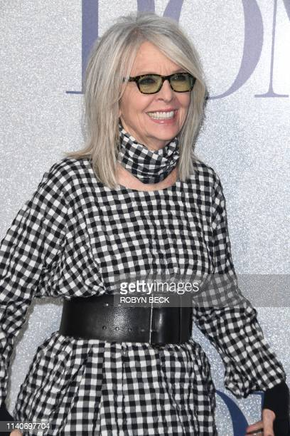 US actress Diane Keaton attends the premiere of STX Entertainment's Poms in Los Angeles on May 1 2019