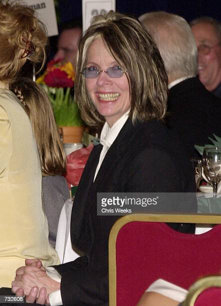 Actress Diane Keaton honorary event chair smiles for the photographer October 21 2000 at the Actors and Others for Animals 8th Annual Celebrity...