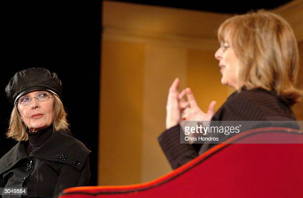 Actress Diane Keaton is interviewed by Something's Gotta Give director Nancy Meyers at the HBO US Comedy Arts Festival Keaton was presented with the...
