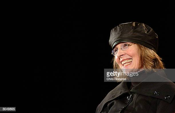 Actress Diane Keaton receives the AFI Star Award at the HBO US Comedy Arts Festival on March 6 2004 in Aspen Colorado