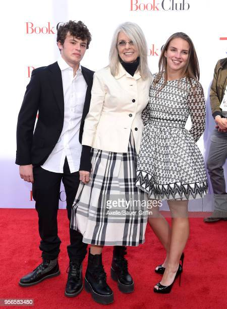 Actress Diane Keaton son Duke Keaton and daughter Dexter Keaton arrive at the premiere of Paramount Pictures' 'Book Club' at Regency Village Theatre...