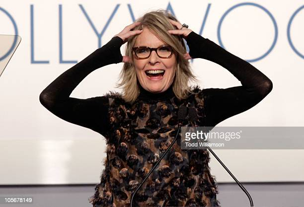 Actress Diane Keaton speaks onstage at ELLE's 17th Annual Women in Hollywood Tribute at The Four Seasons Hotel on October 18 2010 in Beverly Hills...