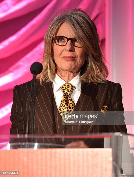 Actress Diane Keaton speaks onstage during The Hollywood Reporter's Power 100 Women In Entertainment Breakfast at the Beverly Hills Hotel on December...