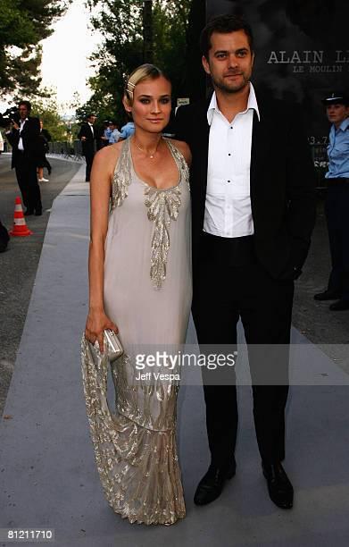 Actress Diane Kruger and actor Joshua Jackson arrive at amfAR's Cinema Against AIDS 2008 benefit held at Le Moulin de Mougins during the 61st...