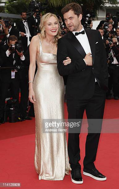 Actress Diane Kruger and actor Joshua Jackson arrive at the 'Sleeping Beauty' premiere during the 64th Annual Cannes Film Festival at the Palais des...