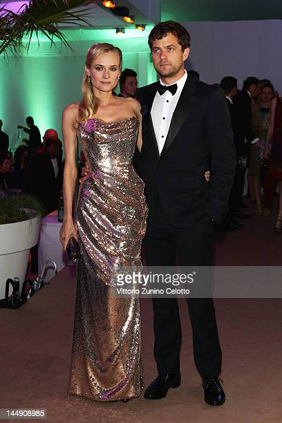 Actress Diane Kruger and Actor Joshua Jackson attend the 65th Anniversary Party at the Agora May 21 2012 in Cannes France