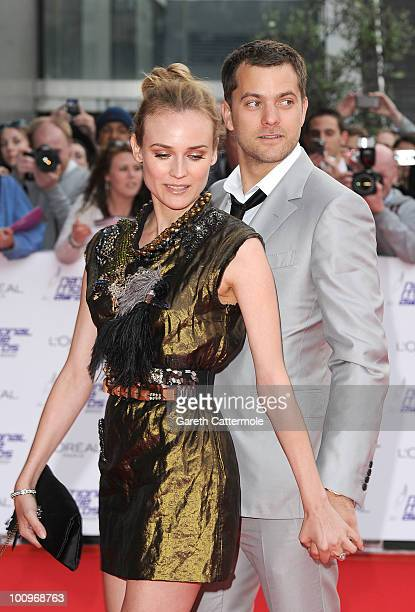 Actress Diane Kruger and Actor Joshua Jackson attend the National Movie Awards 2010 at the Royal Festival Hall on May 26 2010 in London England