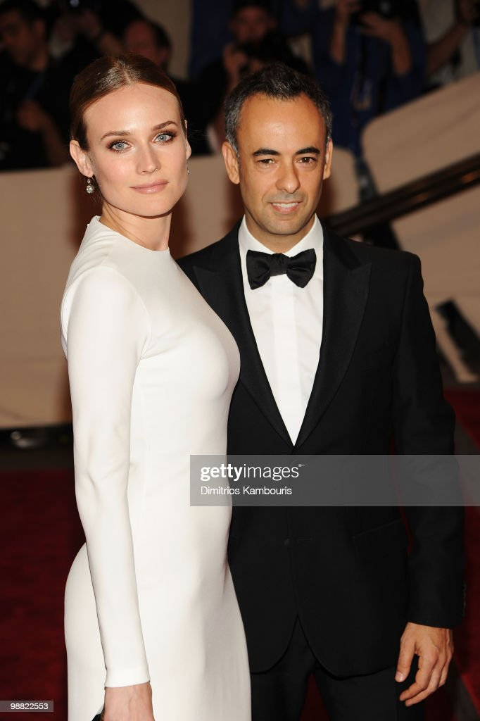Actress Diane Kruger (L) and designer Francisco Costa attend the Costume Institute Gala Benefit to celebrate the opening of the 'American Woman: Fashioning a National Identity' exhibition at The Metropolitan Museum of Art on May 3, 2010 in New York City.