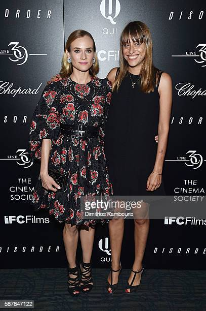 Actress Diane Kruger and Director Alice Winocour attend a screening of IFC Films' 'Disorder' hosted by The Cinema Society Chopard with Line 39 and...