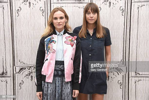 Actress Diane Kruger and director Alice Winocourattend AOL BUILD Series to discuss the new film 'Disorder' at AOL HQ on August 9 2016 in New York City