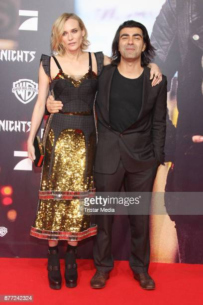 US actress Diane Kruger and director Fatih Akin attend the German premiere 'Aus dem Nichts' on November 21 2017 in Hamburg Germany