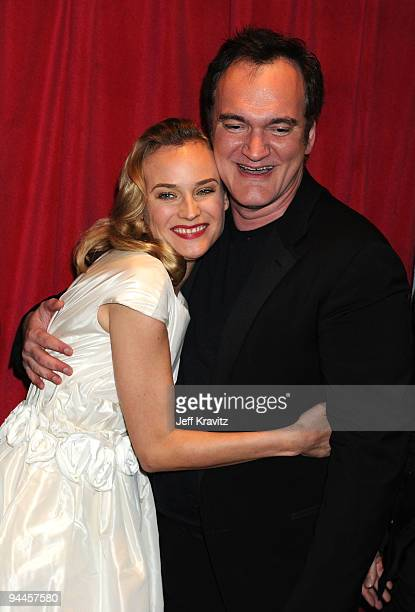 Actress Diane Kruger and director/writer Quentin Tarantino arrive at Inglourious Basterds BluRay and DVD Launch at New Beverly Cinema on December 14...
