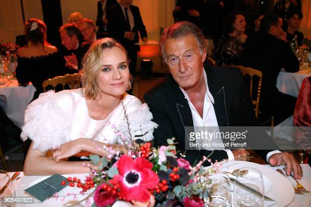 Actress Diane Kruger and Image Director at Chanel Eric Pfrunder attend the 'Cesar Revelations 2018' Party at Le Petit Palais on January 15 2018 in...