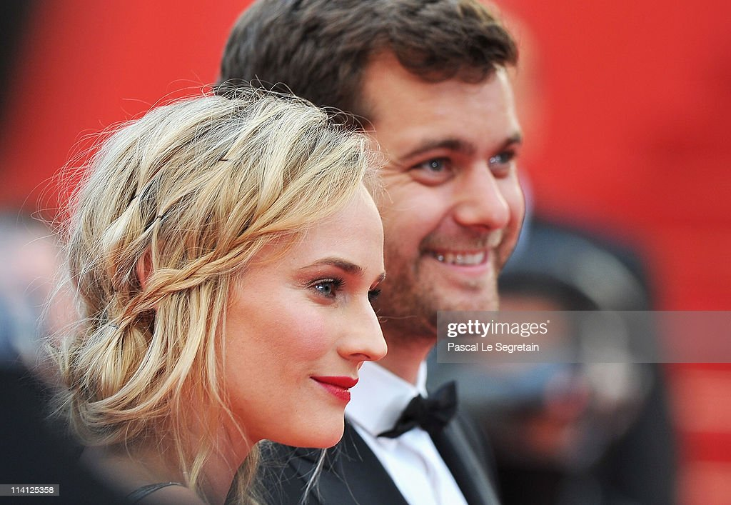 Actress Diane Kruger and Joshua Jackson arrive at the 'Sleeping Beauty' premiere during the 64th Annual Cannes Film Festival at the Palais des Festivals on May 12, 2011 in Cannes, France.