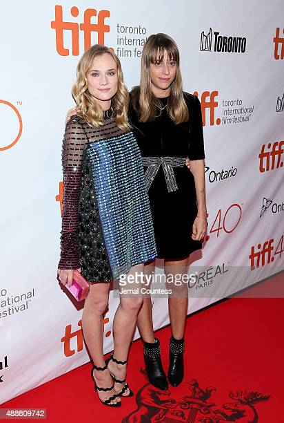 Actress Diane Kruger and Writer/Director Alice Winocour attend the Disorder premiere during the 2015 Toronto International Film Festival at Roy...