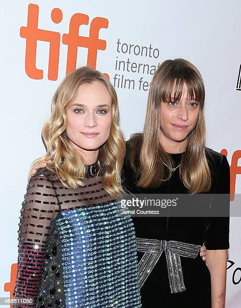 Actress Diane Kruger and Writer/Director Alice Winocour attend the 'Disorder' premiere during the 2015 Toronto International Film Festival at Roy...