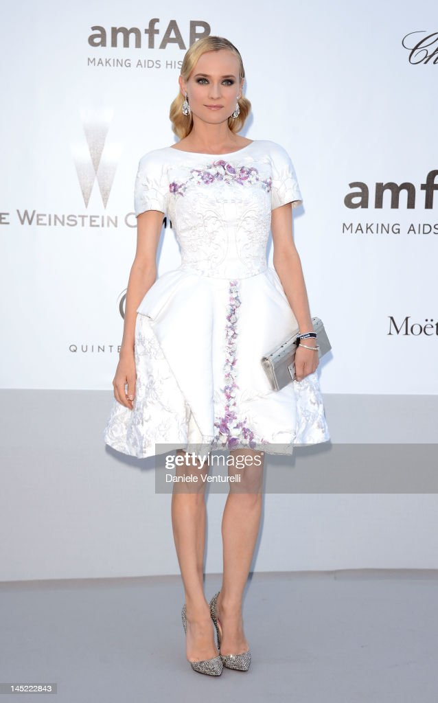 Actress Diane Kruger arrives at 2012 amfAR's Cinema Against AIDS during the 65th Annual Cannes Film Festival at Hotel Du Cap on May 24, 2012 in Cap D'Antibes, France.