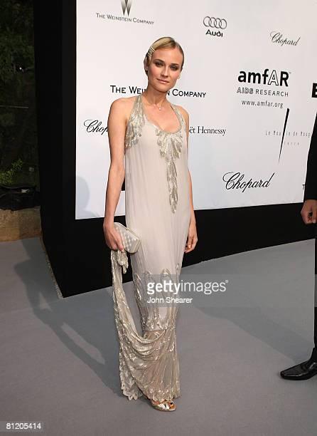 Actress Diane Kruger arrives at amfAR's Cinema Against AIDS 2008 benefit held at Le Moulin de Mougins during the 61st International Cannes Film...