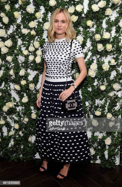 Actress Diane Kruger arrives at Lynn Hirschberg celebrates W's It Girls with Lancome and Dom Perignon at AOC on January 11 2014 in Los Angeles...