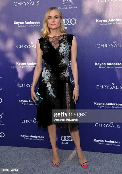 Actress Diane Kruger arrives at the 13th Annual Chrysalis Butterfly Ball at a private Mandeville Canyon estate on June 7 2014 in Los Angeles...