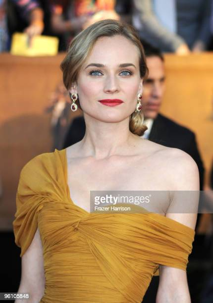Actress Diane Kruger arrives at the 16th Annual Screen Actors Guild Awards held at the Shrine Auditorium on January 23 2010 in Los Angeles California