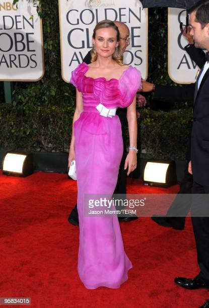 Actress Diane Kruger arrives at the 67th Annual Golden Globe Awards held at The Beverly Hilton Hotel on January 17 2010 in Beverly Hills California