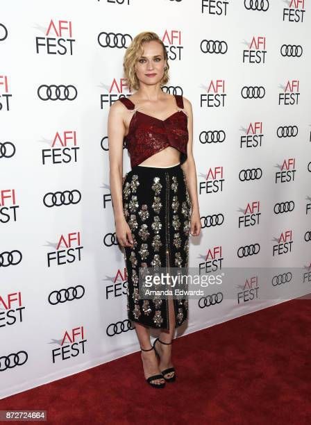 Actress Diane Kruger arrives at the AFI FEST 2017 Filmmakers' Photo Call at the TCL Chinese 6 Theatres on November 10 2017 in Hollywood California