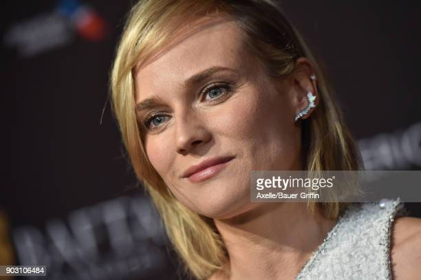 Actress Diane Kruger arrives at The BAFTA Los Angeles Tea Party at Four Seasons Hotel Los Angeles at Beverly Hills on January 6 2018 in Los Angeles...