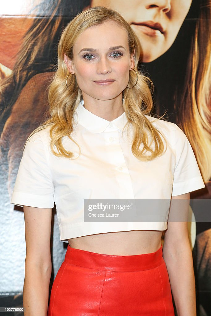 Actress Diane Kruger arrives at the celebration of the film release of 'The Host' at Barnes & Noble bookstore at The Grove on March 15, 2013 in Los Angeles, California.