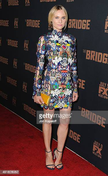 """Actress Diane Kruger arrives at the FX's """"The Bridge"""" Season 2 Premiere at Pacific Design Center on July 7, 2014 in West Hollywood, California."""