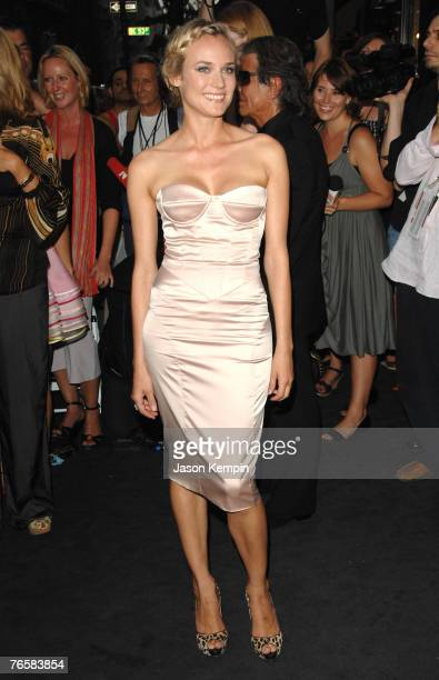 Actress Diane Kruger arrives at the grand opening of fashion designer Roberto Cavalli's 'Just Cavalli' store on September 7 2007 in New York City