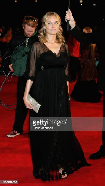 Actress Diane Kruger arrives at The Orange British Academy Film Awards at the Odeon Leicester Square on February 19 2006 in London England