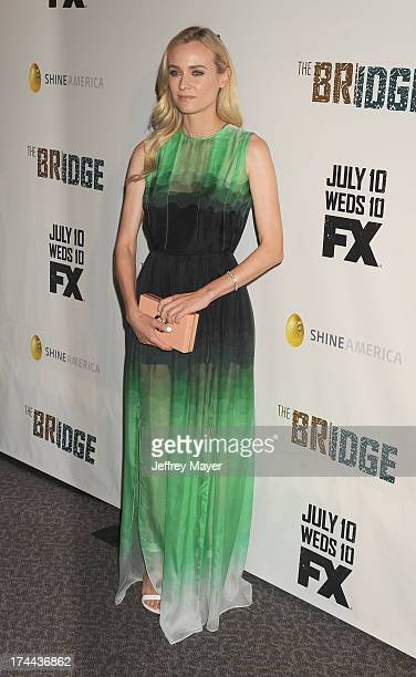 Actress Diane Kruger arrives at the Series Premiere Of FX's 'The Bridge' at DGA Theater on July 8, 2013 in Los Angeles, California.