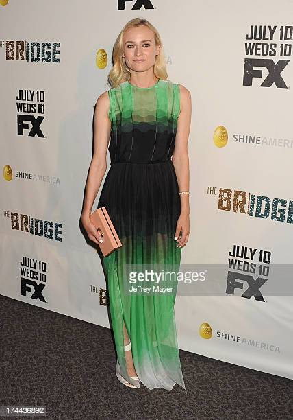 Actress Diane Kruger arrives at the Series Premiere Of FX's 'The Bridge' at DGA Theater on July 8 2013 in Los Angeles California